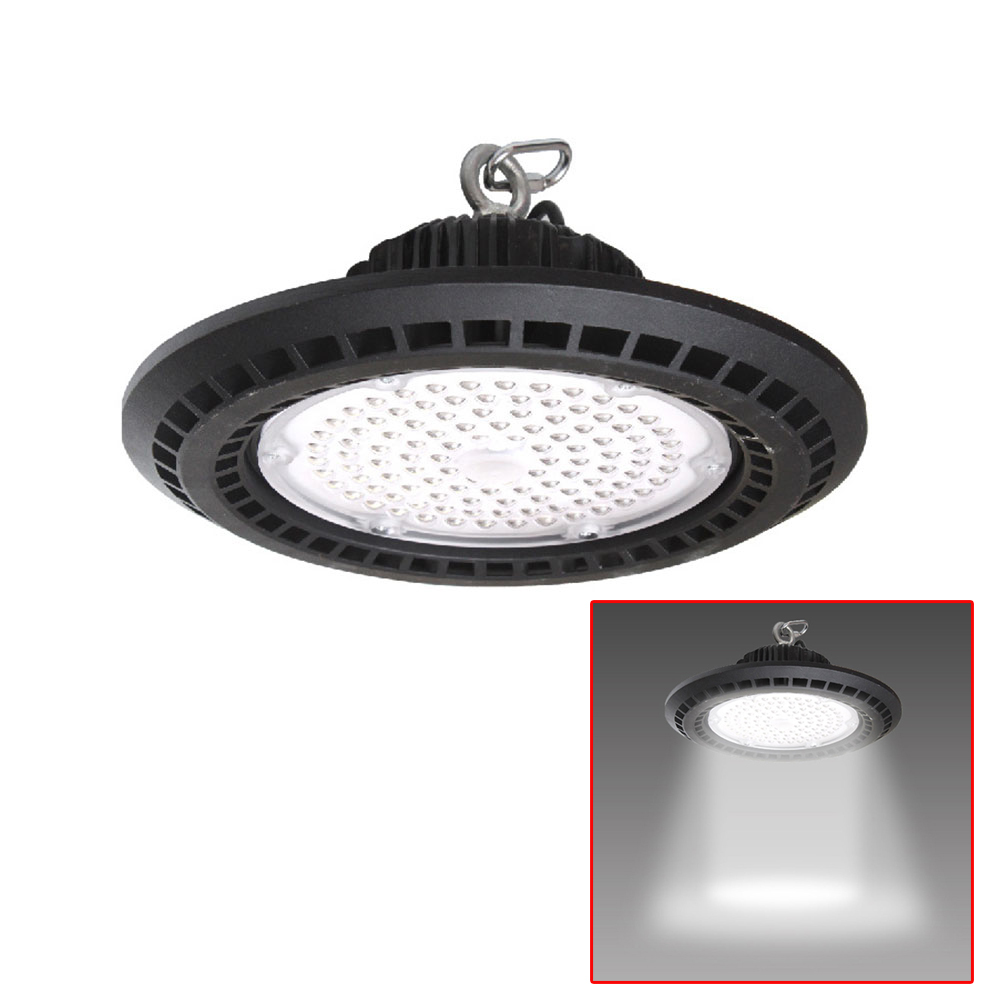 50W-200W LED High Bay Light Fixture 14000lm 6500K Daylight Industrial Lamp Commercial Bay Lighting for Warehouse Workshop