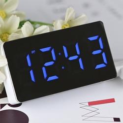 Цифровой мини-будильник со светодиодной подсветкой, настольные часы с функцией повтора, будильник, беззвучный календарь, регулируемые элек...