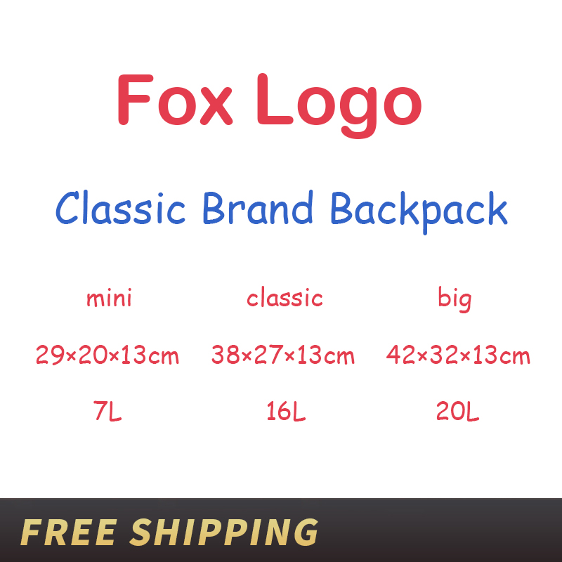 Men Women Waterproof Backpacks Fashion Laptop Travel Bags Teenage Students Schoolbag Sweden Classic Brand Fox Backpack Mochila image