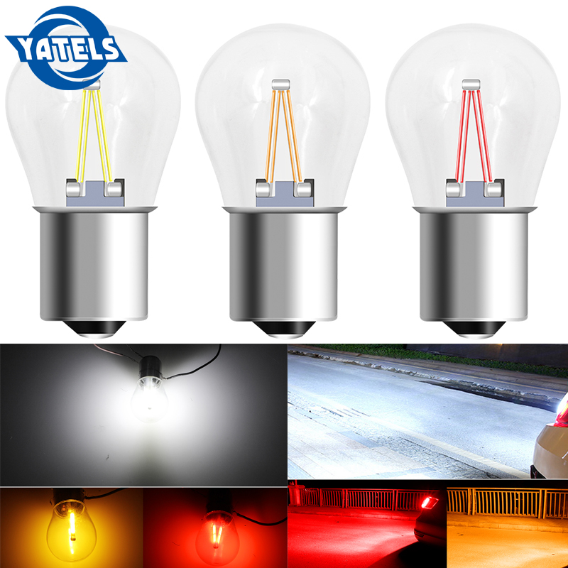 1 PCS  BA15S 1156 COB  Led Brake Lights Bulb Super Bright P21/5w Led Car Accessories Car Bulbs Auto Light Source Yellow Red White 12v