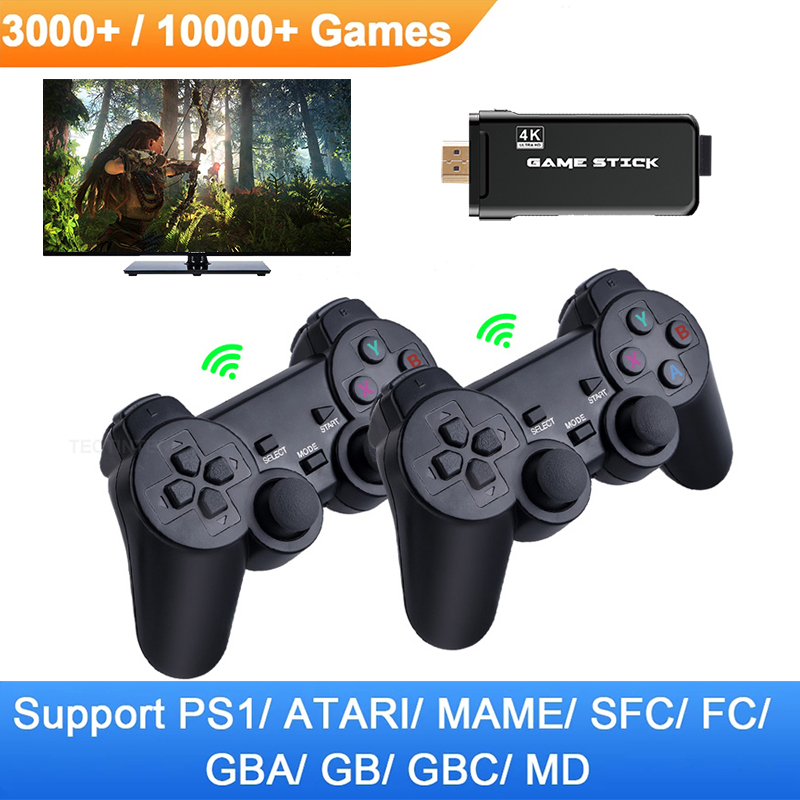 TV Video Game Console 2.4G Double Wireless Controller Gamepad Support PS1 Classic Games Retro Game Console 4K HDMI|Handheld Game Players| - AliExpress