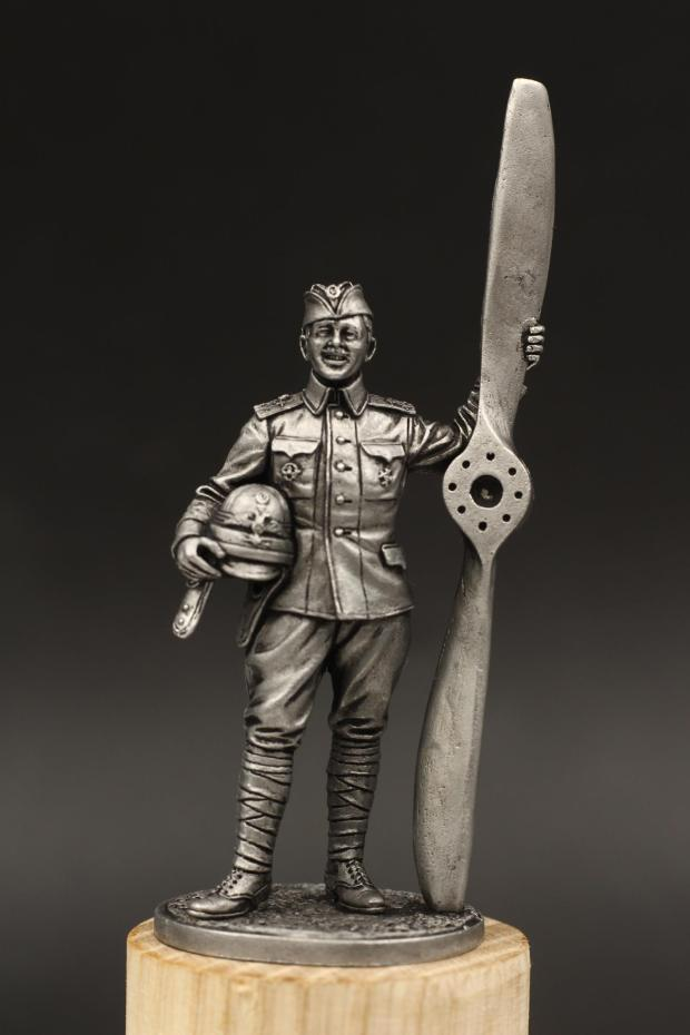 USSR WWI Russian Aviation Flight Brigade Pilot Double Paddle 1/30 60mm Tin Metal Warrior Model Figurines Home Decorative Gifts