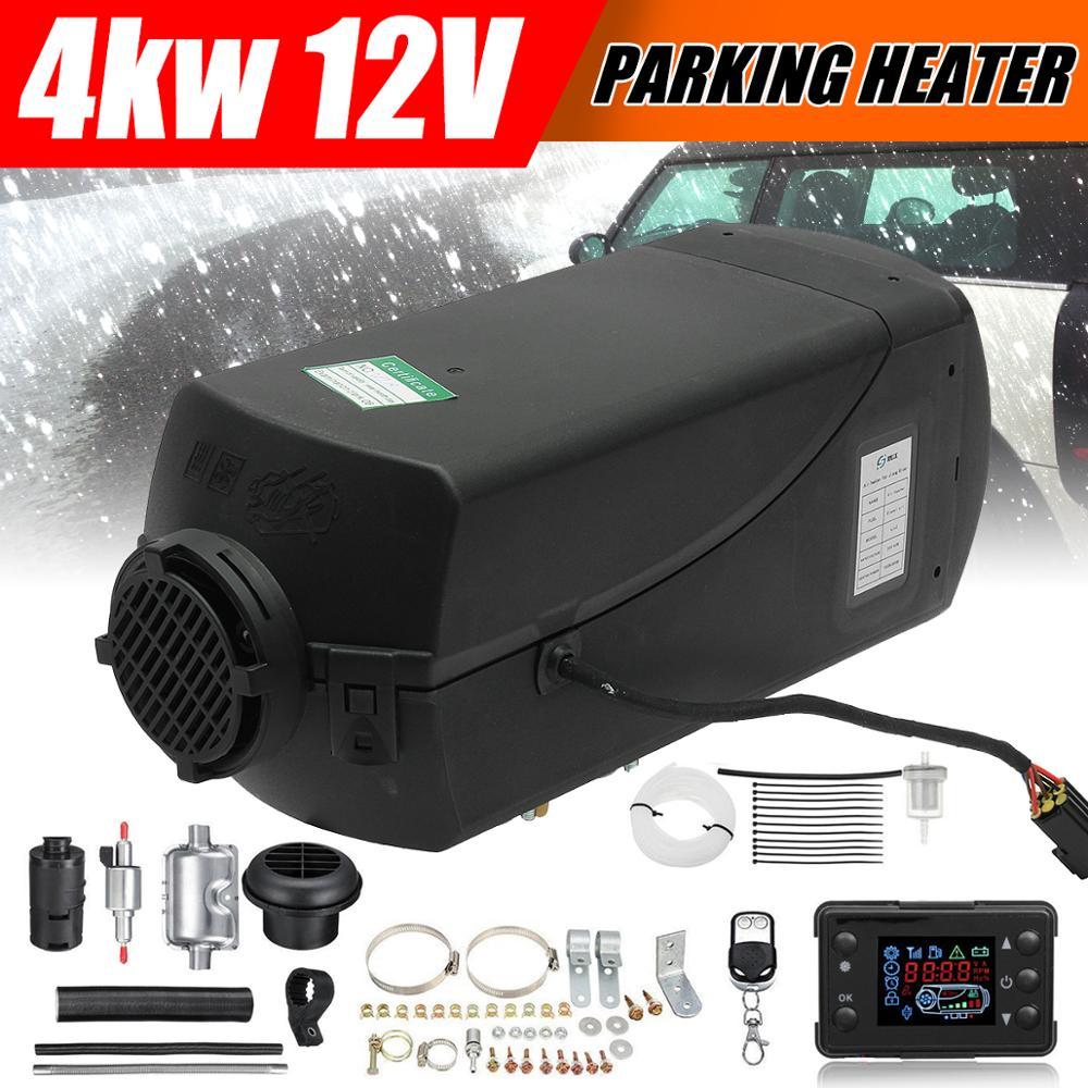 4KW 12V diesels réchauffeur d'air pour camion bateaux caravane RV bus-pour remplacer Eberspacher D4, s parking chauffage + télécommande + silencieux