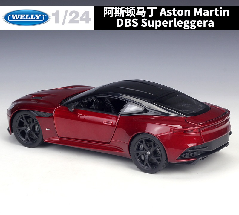 Aston Martin DBS Superleggera metallic-dunkelrot 2018-1:24 WELLY  *NEW*