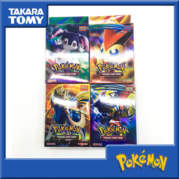 Tomy Pokemon Trading Card Game Sword Shield Collection Shining Box GX Flash Card Energy Trainer Tag Team 100pcs Cards image