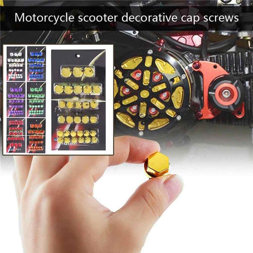 30Pc Motorcycle Screw Nut Bolt Cap Cover Decoration Centro Motorbike Ornament JE