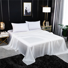 Solid Color Flat Sheet Silk Bed Sheet King Queen Luxury natural Silk Super Soft Comfortable Bedsheets