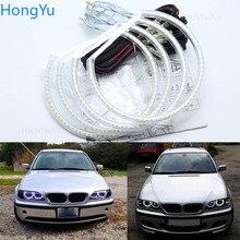 Для BMW E46 sedan touring с проекторами 1998 2005, превосходное Ультра яркое освещение smd комплект светодиодов «глаза ангела» halo ring