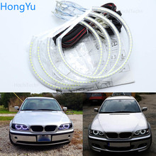 For BMW E46 sedan touring with PROJECTORS 1998 2005 Excellent Ultra bright illumination smd led Angel Eyes kit halo ring