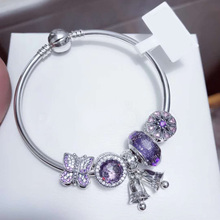 цена на Quality Original 1:1 100%925 Sterling Silver Bow Bell Bracelet Free Shipping