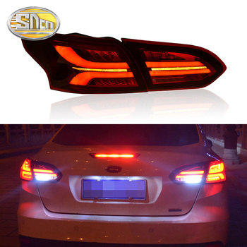 car styling 4pcs set for ford mondeo fusion 2013 2014 2015 2016 taillights led taillight led rear lamp brake reversing signal Car LED Tail Light Taillight For Ford Focus 3 MK3 Sedan 2015 - 2018 Rear Fog Lamp + Brake Light + Reverse + Dynamic Turn Signal