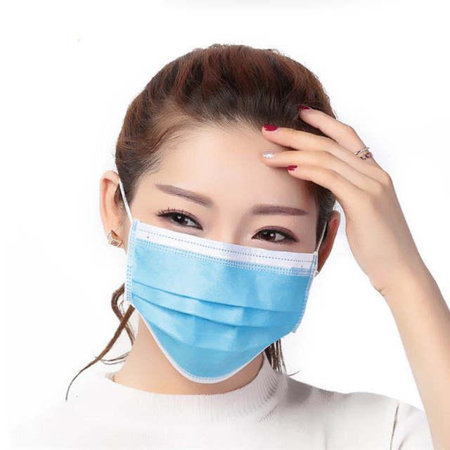 20pcs Adults Mask EU CE Certification 3 Ply Non-woven Disposable Mask Earloop Brethable Flu Hygiene Anti-virus Dust Face Masks