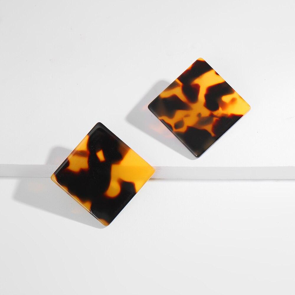 Женские леопардовые фигурные серьги ZA, висячие серьги черепаховой расцветки из акрилацетата, украшения для вечеринок - Окраска металла: 10618