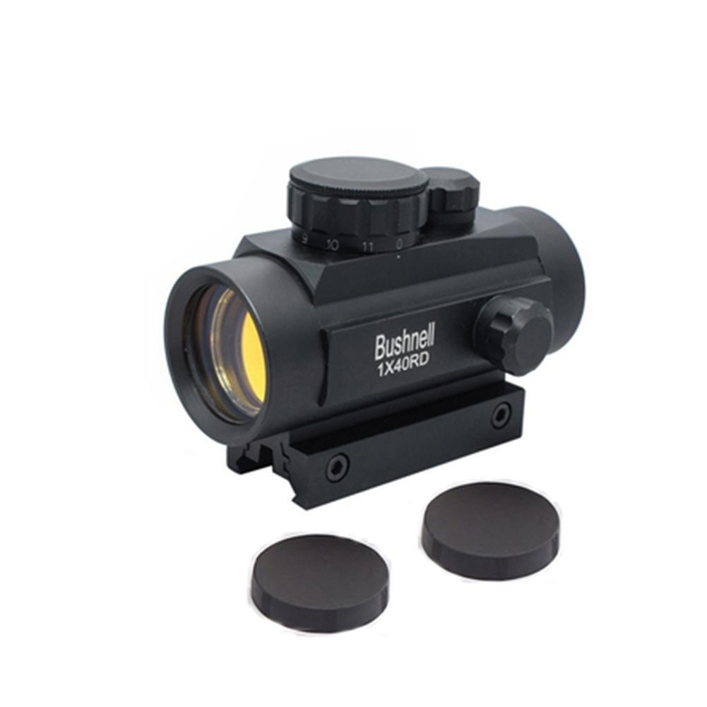 Red Dot Sight Airsoft Tactical Holographic 1 X 40 Caliber Illuminated Red Green Dot Sight Mount Protector Collimator Sight