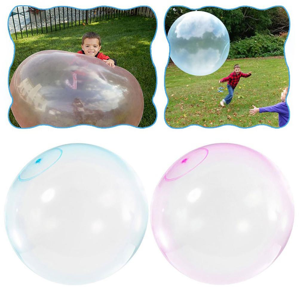 L S M Size Children Outdoor Soft Air Filled Bubble Ball Blow Up Balloon Toy Fun party game gift for kids inflatable gift(China)