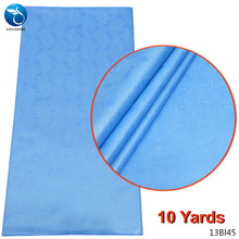 LIULANZHI Polyester bazin 10 yards nigerian african lace riche polyester fabric new arrvial 13Bl45