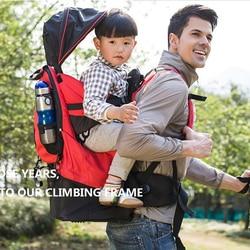 Портативный рюкзак для малышей, рюкзак для пешего туризма, эргономичный рюкзак для улицы, поясной стул для ребенка с дождевиком, детские сум...