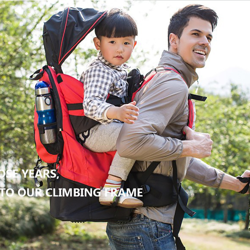 Portable Baby Toddler Backpack Hiking Carrier Ergonomic Outdoor Backpack Baby Carrier Waist Stool with Raincover Child Kid Bags