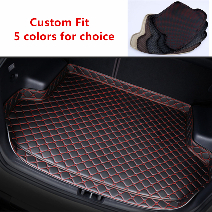 Black Custom Fit For Peugeot 3008 2012-2018 2019 Beige Car Rear Trunk Mat All Weather Car Cargo Tray Boot Liner Carpet Protect