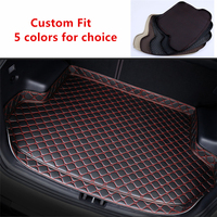 New Custom Fit for Volvo V60 2012 2013 2019 Black Beige Car Rear Trunk Mat All Weather Car Cargo Tray Boot Liner Carpet Protect