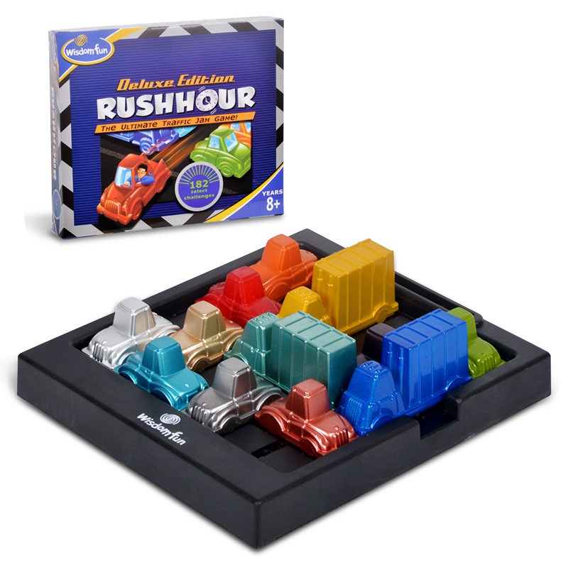 Rushhour Traffic jam time Rush hour Playing puzzle intelligence toy party game for kids children's thinking logic clearance game