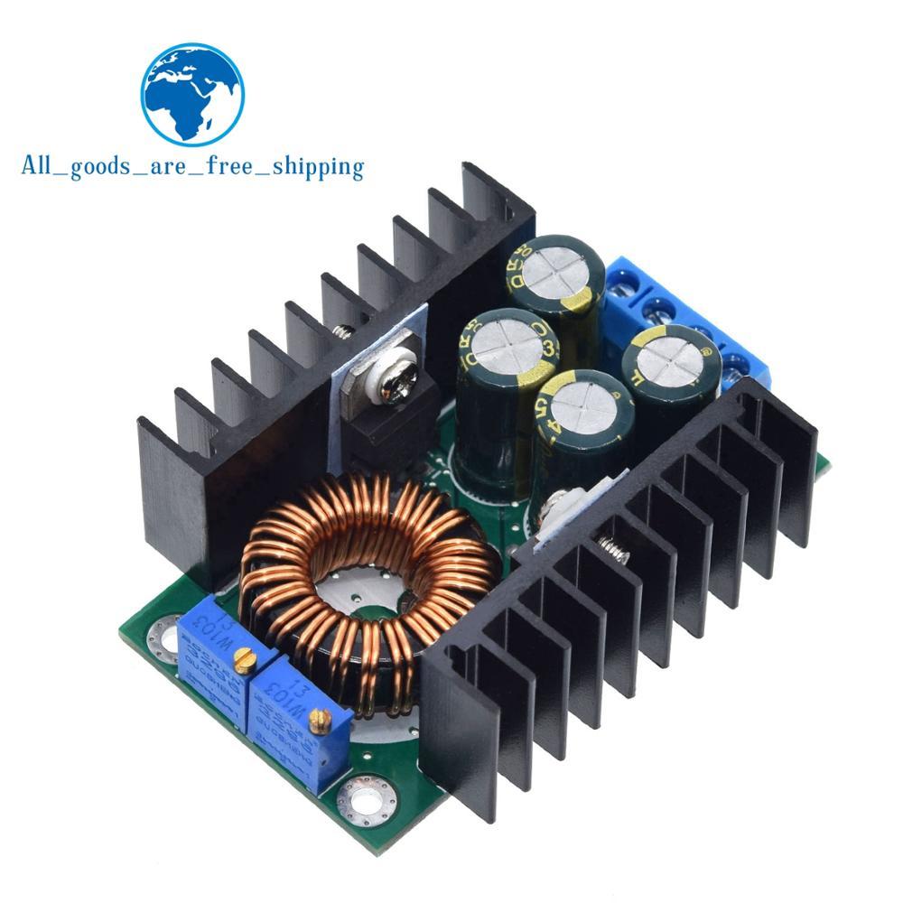 DC-DC Voltage CC CV Buck Konverter 7-40V to 0.8-28V 12A 300W 12V//5V AHS