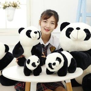 Image 3 - Sevimli bebek büyük dev Panda ayı peluş doldurulmuş hayvan bebek hayvanlar oyuncak yastık karikatür Kawaii bebek kız hediyeler Knuffels