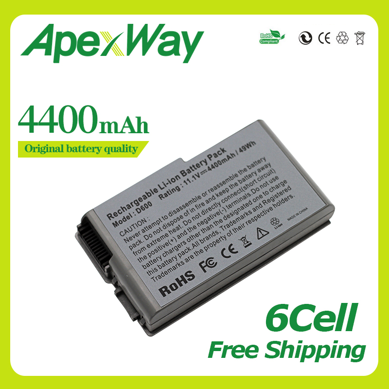 Apexway 11.1V Battery For Dell Latitude D500 D505 D510 D520 D530 D600 D610 For Precision M20 C1295 M9014 U1544 W1605 Y1338