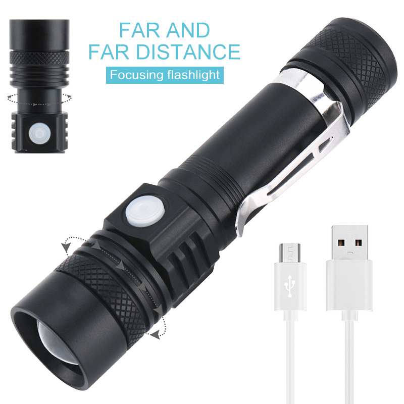 Most Powerful Led Flashlight Ultra Bright Linterna Led Torch T6 Zoomable Bicycle Light Use AAA 18650 Battery Waterproof
