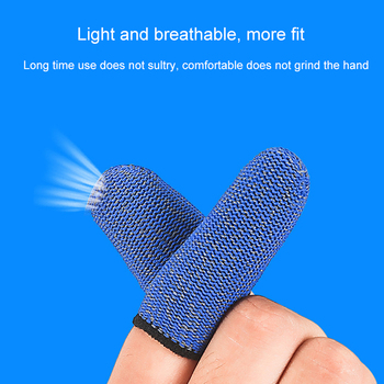 2PCS Professional Touch Screen Thumbs Finger Sleeve Gaming Gloves Game Phone Mobile For Pubg Light and breathable 1