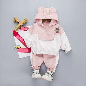 Autumn Children Baby Boys Girl Clothes Hoodies Cartoon Sweatshirt Pants 2Pcs/sets Infant Kids Casual Clothing Toddler Tracksuits kids tracksuits 2018 new autumn boys clothes sets letter printed hoodies