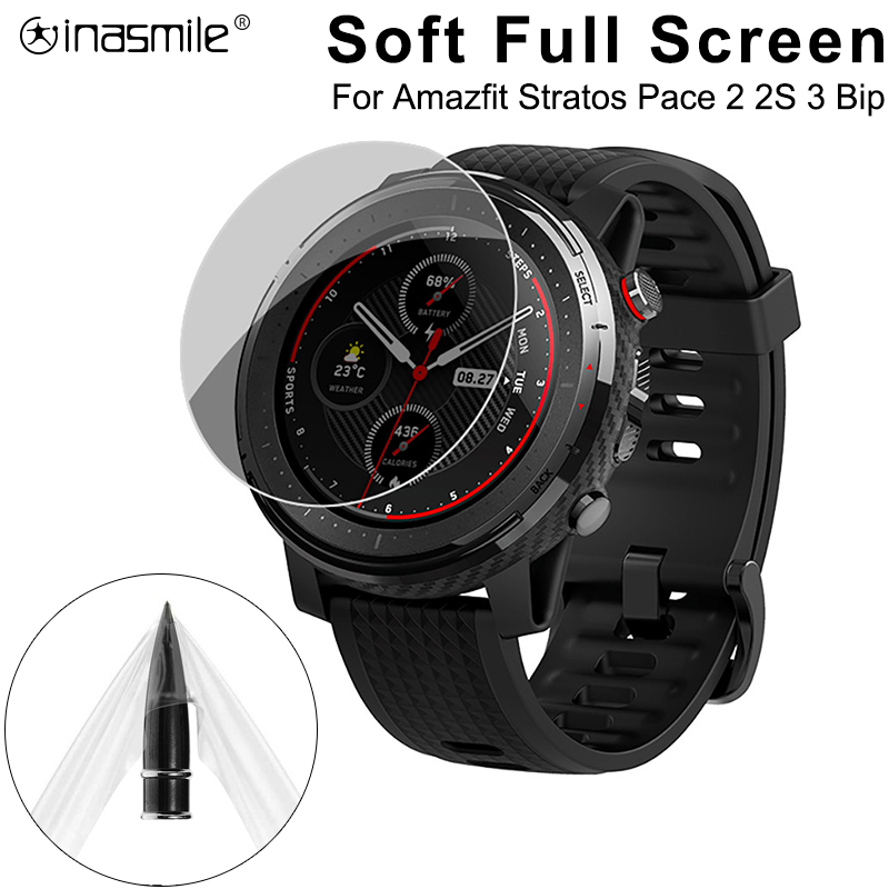 5 /3 /1 PCS Soft Full Screen Protector Smart Watch For Xiaomi Huami Amazfit Stratos 2s Pace Bip Band 2 Verge GTR 3 Film Cover