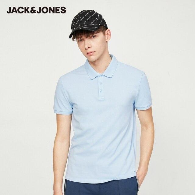 Jack Jones Men's Basic Solid Color Cotton Turn-down Collar Polo Shirt JackJones Menswear 220206532 3