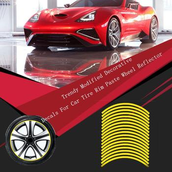 Trendy Modified Decorative Decals For Car Tire Rim Paste Wheel Reflector Exquisitely Designed Durable image
