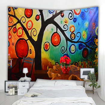 Van Gogh color graffiti color unique Mandela wall hanging tapestry psychedelic pattern yoga throwing beach throwing blanket hipp image