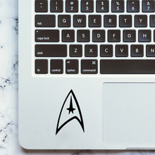 New arrival Star trek logo Waterproof Black Laptop sticker Cover Skin Sticker Pro Decal Air Retina Mi Skin Decor(China)