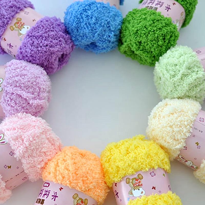Soft Smooth High Quality Yarn for Baby Hand Knitting Colorful Wool Yarn Crochet Sweater Blanket Hat Scarf Socks DIY Needlework