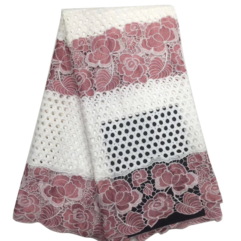 Fashionable African Lace Fabric 2020 Wonderful Flower Embroidered Brocade Lace Fabric For African Elegant Women Evening Dress