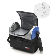 2 отдел для еды, сумка, Термоизолированный ящик-кулер для обеда, детская школьная сумка для продуктов, Bento, сумка для мужчин и женщин с регулируемыми ремнями