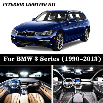Perfect White Bulbs Car LED Interior Map Dome Light Package Kit Fit For 1990-2011 2012 2013 BMW 3 Series E36 E46 E90 E91 E92 image