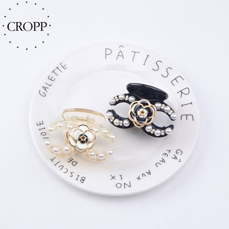 New Arrival Korean Imitation Pearl Hair Claw Clips Vintage Simple Camellia Hairpin Luxurious Elegant For Girl Hair Accessories|Hair Jewelry| - AliExpress