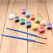 12 Color Siamese+ Hook Line Pen+ Row Pen Acrylic Paint Manufacturers Promotional Silicone Environmental Protection DIY 1Set