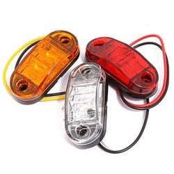 2PCS Car External Warning Light 12V 24V LED Side Marker Strobe Lights Auto Trailer Truck Lorry Lamps Amber Traffic Light