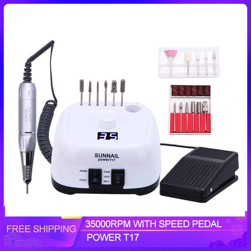 Electric Nail Drill Machine 35000 RPM Professional Manicure Nail Equipment Electric Nail File With Milling Cutter Nail Art Tool