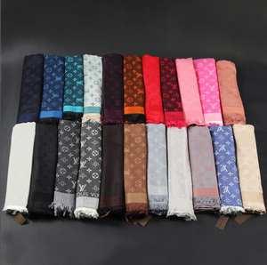Cashmere Scarf Blanket Neck-Scarves Warm Shawls Louis Vuitton-Women Thick Luxury Wraps