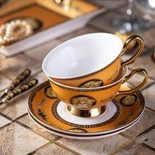 High qualityBone China Coffee Cup Royal Classical Afternoon Tea Cups saucer Ceramic coffee mug flower tea cup saucer spoon set klimt classic kiss design coffee cup and tea saucer ceramic