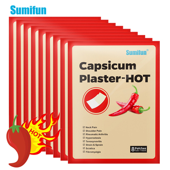 Sumifun 8/24/40/64Pcs Pepper Hot Pain Relief Plaster Back/neck/shoulder Chinese Herbal Medical for Joint/arthritis Patch 8 48 64pcs joint aches painkiller medical plaster chinese herbal extract knee rheumatoid arthritis pain relief patch health care