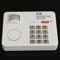 PIR Wireless Motion Sensor Alarm with Security Keypad for Home Door Garage Shed|EAS System| |  -