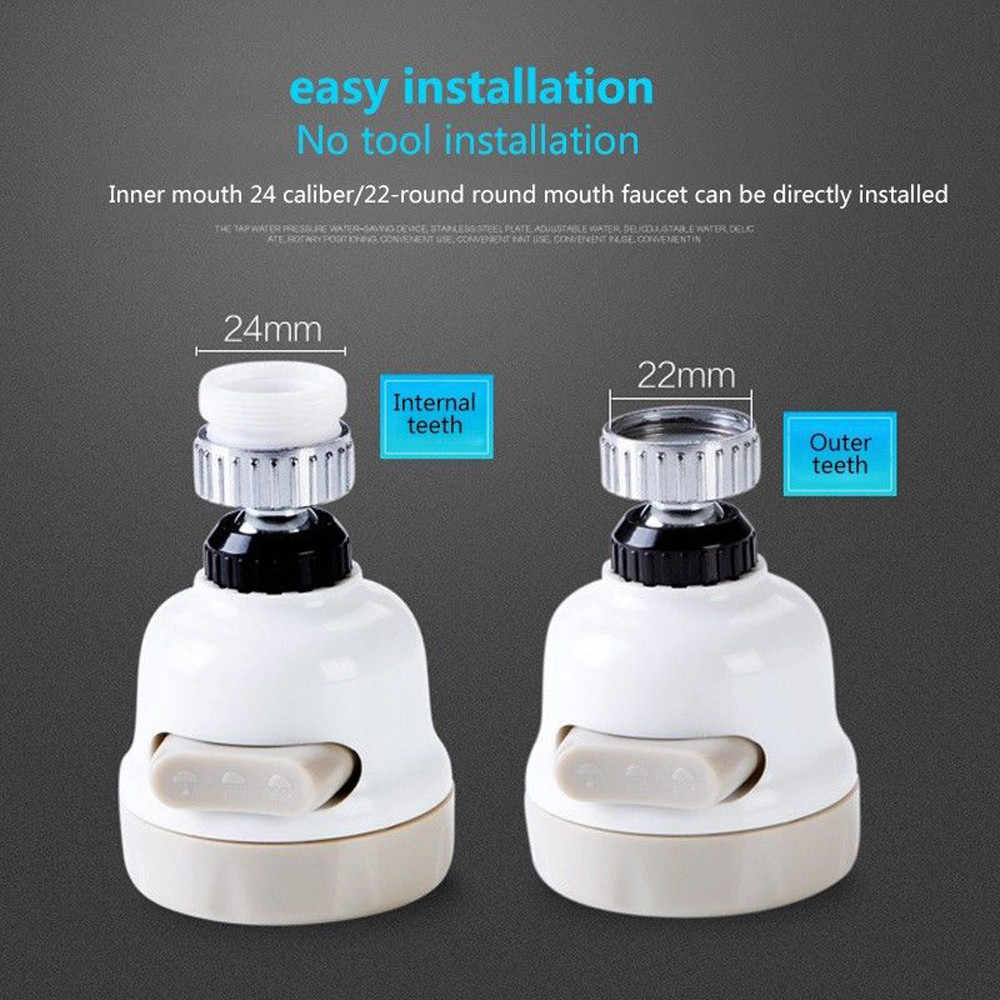 節水ノズルタップアダプタデバイス 360 ロータリー蛇口ブースターキッチンフィルター節水デバイスキッチン浴室ブースター