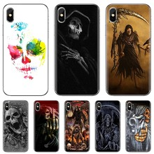For Samsung Galaxy J1 J2 J3 J4 J5 J6 J7 J8 Plus 2018 Prime 2015 2016 2017 Luxury crazy calaveras Skull Art Poster Soft Cover Bag(China)